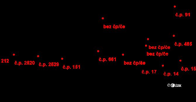Zlín 661 na parcele st. 67/2 v KÚ Zlín, Katastrální mapa