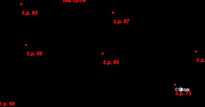 Sedlejov 63 na parcele st. 68 v KÚ Sedlejov, Katastrální mapa