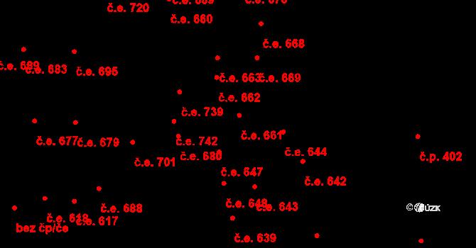 Lipence 661, Praha na parcele st. 1353/68 v KÚ Lipence, Katastrální mapa