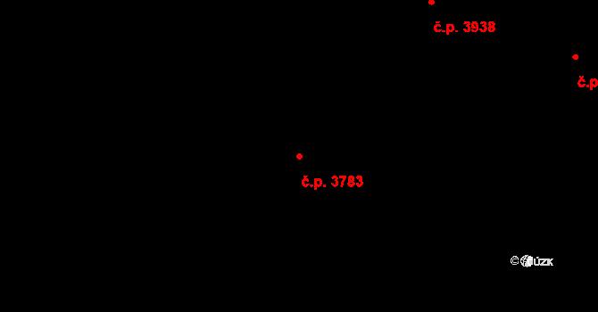 Havlíčkův Brod 3783 na parcele st. 7366 v KÚ Havlíčkův Brod, Katastrální mapa