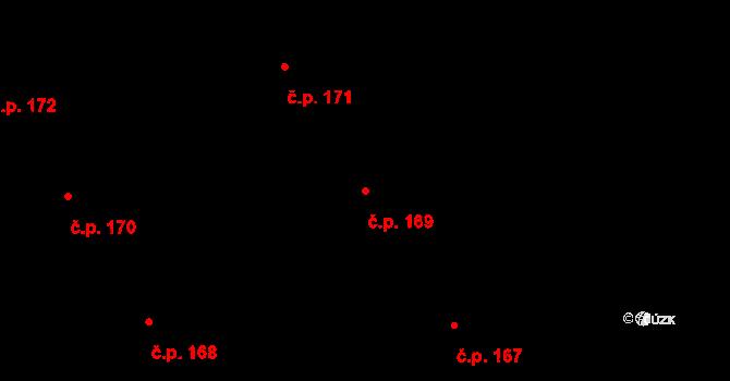 Nová Ves u Nového Města na Moravě 169 na parcele st. 1551/20 v KÚ Nová Ves u Nového Města na Moravě, Katastrální mapa
