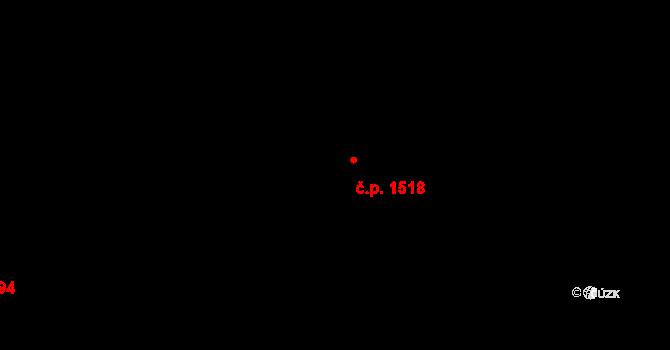 Uhříněves 1518, Praha na parcele st. 2253/13 v KÚ Uhříněves, Katastrální mapa