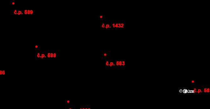Nové Město 583, Praha na parcele st. 2299 v KÚ Nové Město, Katastrální mapa