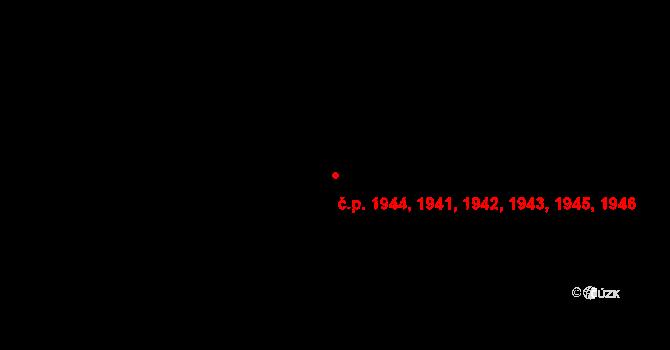 Stodůlky 1941,1942,1943,1944,, Praha na parcele st. 2401/12 v KÚ Stodůlky, Katastrální mapa