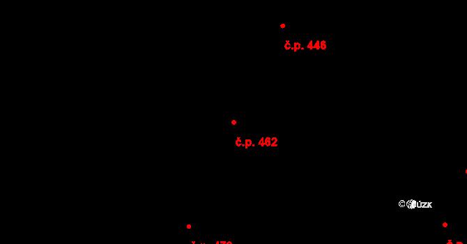 Hradec Králové 462 na parcele st. 542 v KÚ Hradec Králové, Katastrální mapa