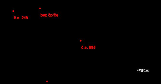 Hořejší Předměstí 585, Domažlice na parcele st. 4081 v KÚ Domažlice, Katastrální mapa
