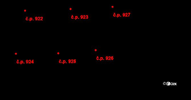 Petřkovice 926, Ostrava na parcele st. 1246/102 v KÚ Petřkovice u Ostravy, Katastrální mapa