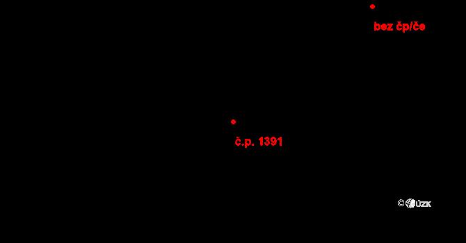 Vršovice 1391, Praha na parcele st. 1645/3 v KÚ Vršovice, Katastrální mapa