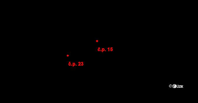 Kácova Lhota 15, Kozmice na parcele st. 47 v KÚ Kozmice u Benešova, Katastrální mapa