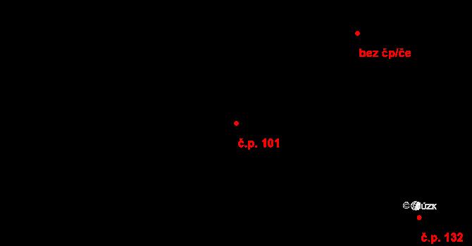 Lány na Důlku 101, Pardubice na parcele st. 10 v KÚ Lány na Důlku, Katastrální mapa