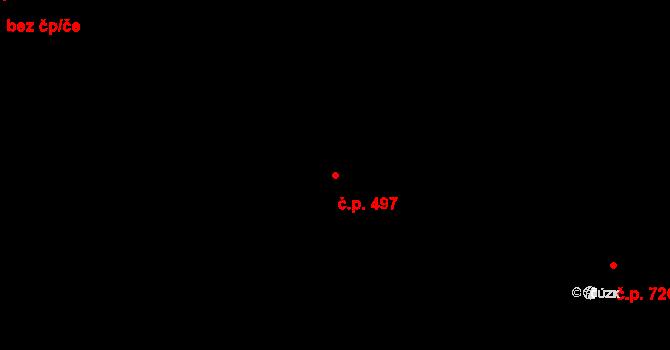Lučany nad Nisou 497 na parcele st. 480 v KÚ Lučany nad Nisou, Katastrální mapa