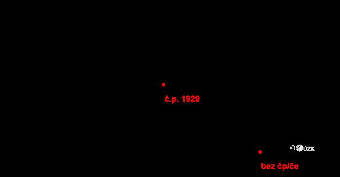 Krč 1929, Praha na parcele st. 1255/48 v KÚ Krč, Katastrální mapa