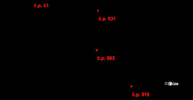 Vinohrady 583, Praha na parcele st. 451/1 v KÚ Vinohrady, Katastrální mapa