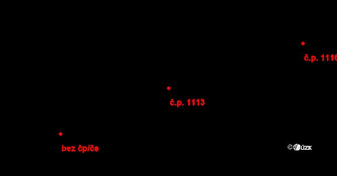 Přívoz 1113, Ostrava na parcele st. 1544 v KÚ Přívoz, Katastrální mapa
