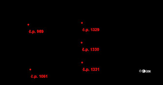 Černice 1330, Plzeň na parcele st. 267/91 v KÚ Černice, Katastrální mapa