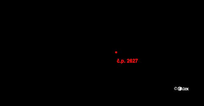 Jihlava 2627 na parcele st. 4381/20 v KÚ Jihlava, Katastrální mapa