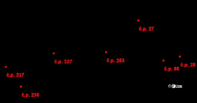 Pohled 253 na parcele st. 393 v KÚ Pohled, Katastrální mapa