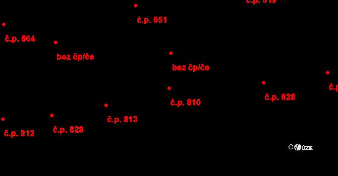 Mariánské Hory 810, Ostrava na parcele st. 752/1 v KÚ Mariánské Hory, Katastrální mapa