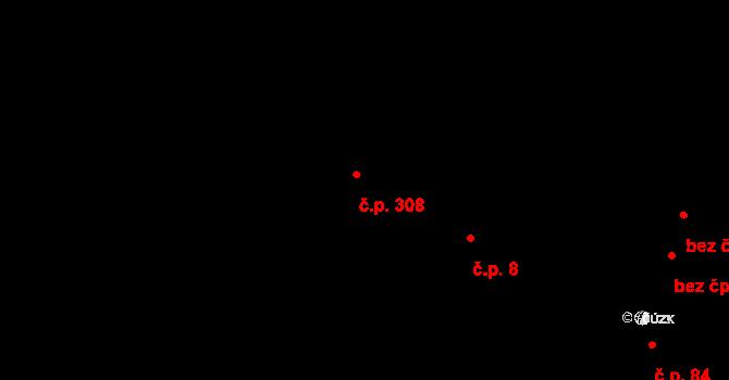 Horní Jasenka 308, Vsetín na parcele st. 678/2 v KÚ Jasenka, Katastrální mapa
