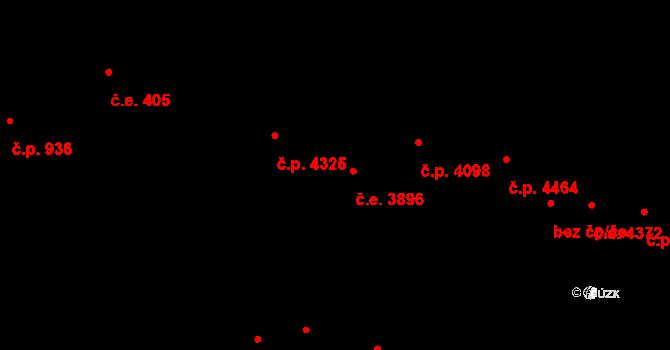 Jihlava 3896 na parcele st. 5401/10 v KÚ Jihlava, Katastrální mapa