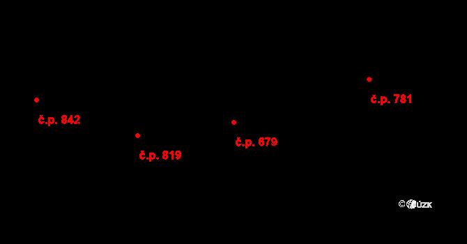 Úpice 679 na parcele st. 680 v KÚ Úpice, Katastrální mapa