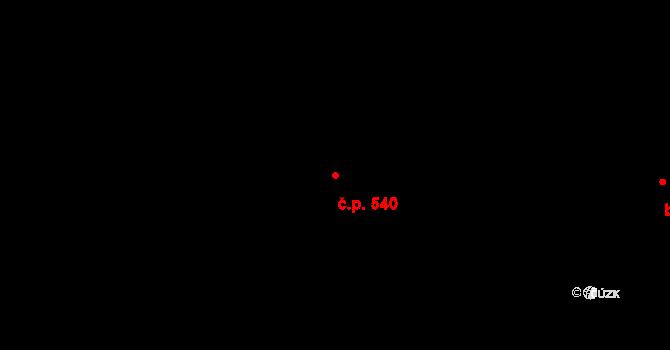 Polabiny 540, Pardubice na parcele st. 8763 v KÚ Pardubice, Katastrální mapa