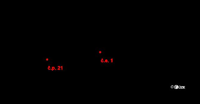 Zásada u Kadaně 1, Kadaň na parcele st. 19/2 v KÚ Zásada u Kadaně, Katastrální mapa