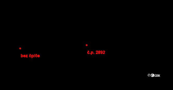 Vítkovice 2892, Ostrava na parcele st. 4829 v KÚ Zábřeh-VŽ, Katastrální mapa