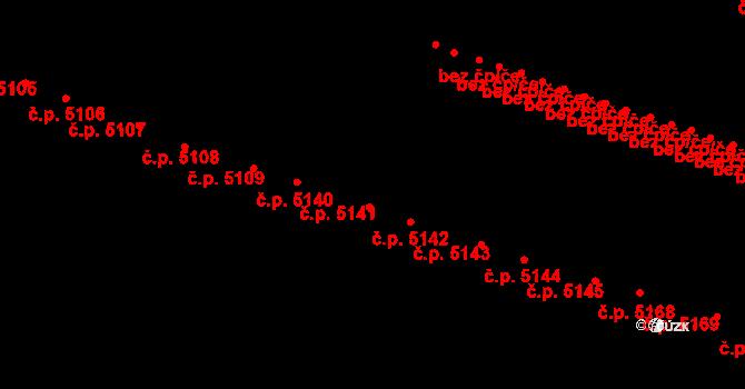 Proseč nad Nisou 5142, Jablonec nad Nisou na parcele st. 810/63 v KÚ Proseč nad Nisou, Katastrální mapa