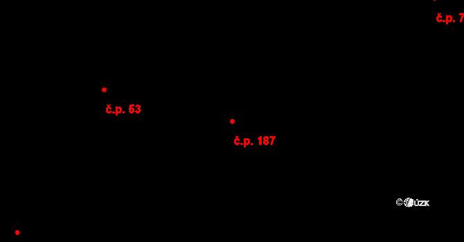 Červený Kostelec 187 na parcele st. 47/1 v KÚ Červený Kostelec, Katastrální mapa