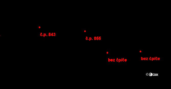 Hrabačov 855, Jilemnice na parcele st. 300 v KÚ Hrabačov, Katastrální mapa