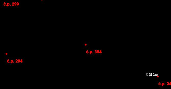 Karlín 394, Praha na parcele st. 203 v KÚ Karlín, Katastrální mapa