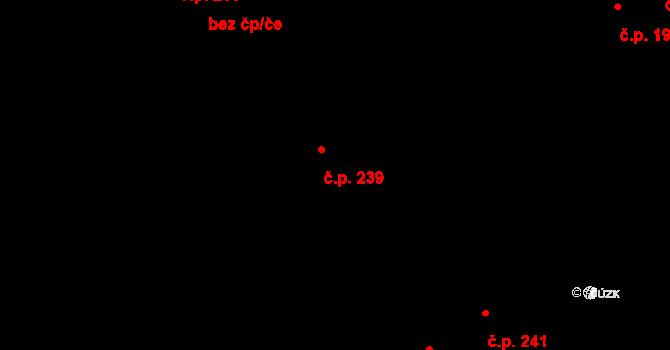 Hrotovice 239 na parcele st. 143 v KÚ Hrotovice, Katastrální mapa