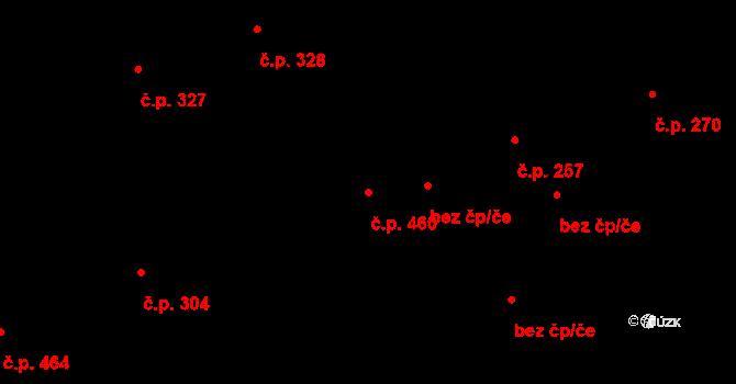 Liberec V-Kristiánov 460, Liberec na parcele st. 3450/3 v KÚ Liberec, Katastrální mapa