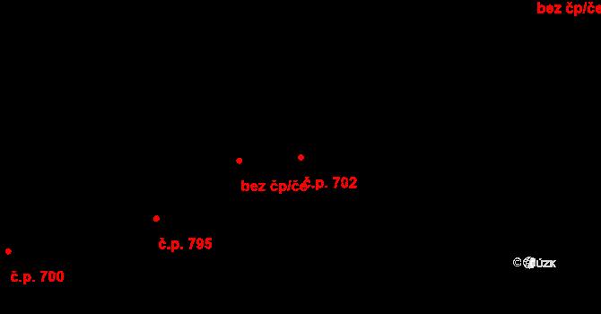 Prštné 702, Zlín na parcele st. 1113 v KÚ Prštné, Katastrální mapa