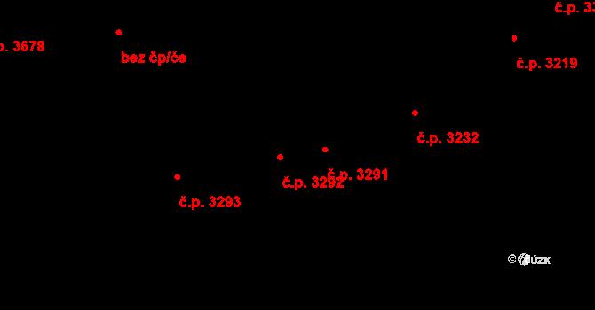 Zlín 3292 na parcele st. 3772 v KÚ Zlín, Katastrální mapa
