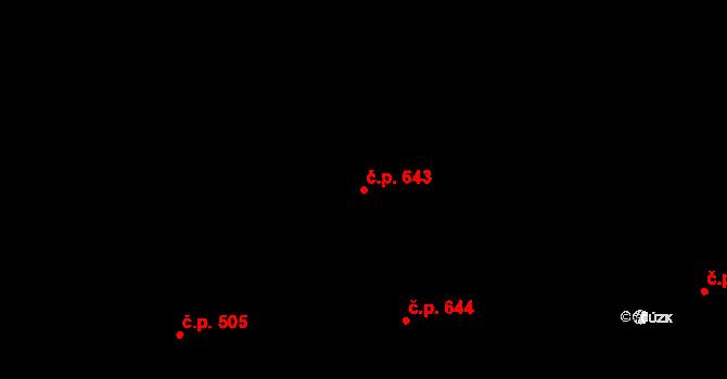 Nová Bělá 643, Ostrava na parcele st. 1204/2 v KÚ Nová Bělá, Katastrální mapa
