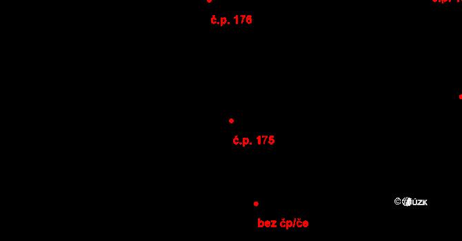 Studánka 175 na parcele st. 252 v KÚ Studánka u Tachova, Katastrální mapa
