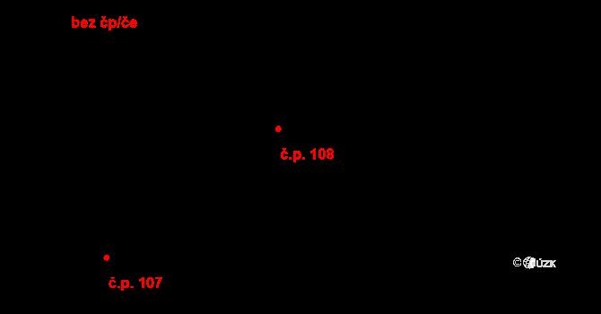 Nové Sedlo 108 na parcele st. 131 v KÚ Nové Sedlo u Žatce, Katastrální mapa