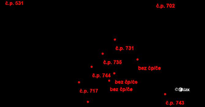 Petřkovice 735, Ostrava na parcele st. 778/96 v KÚ Petřkovice u Ostravy, Katastrální mapa