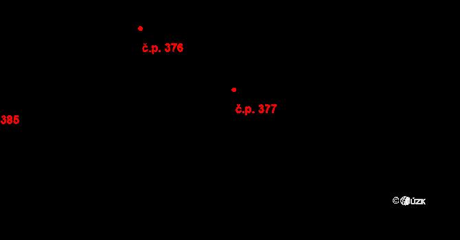 Vážany 377, Kroměříž na parcele st. 693/179 v KÚ Vážany u Kroměříže, Katastrální mapa