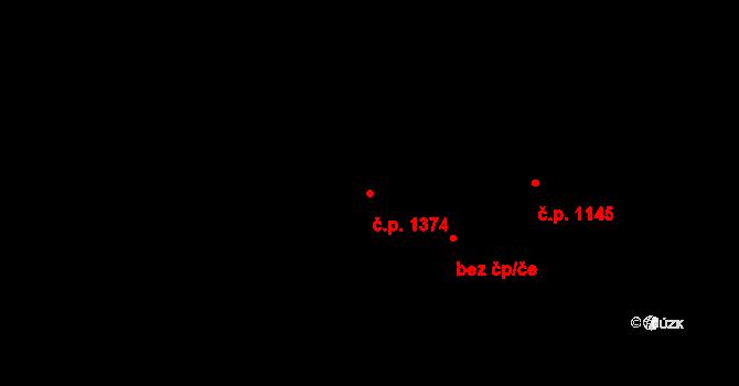 Český Těšín 1374 na parcele st. 1999/11 v KÚ Český Těšín, Katastrální mapa