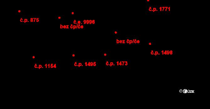 Žižkov 1473, Praha na parcele st. 1459/1 v KÚ Žižkov, Katastrální mapa