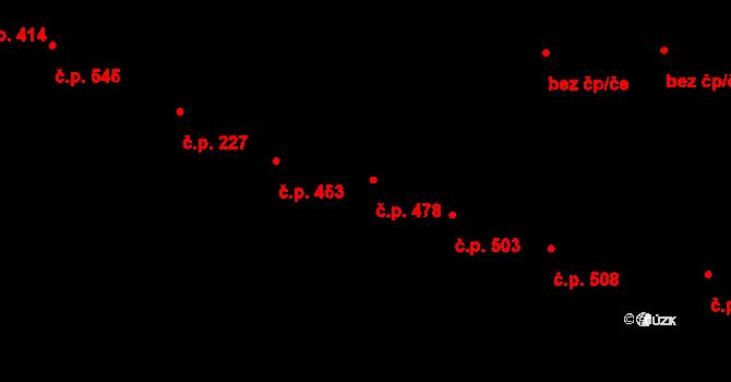 Lednice 478 na parcele st. 1098 v KÚ Lednice na Moravě, Katastrální mapa