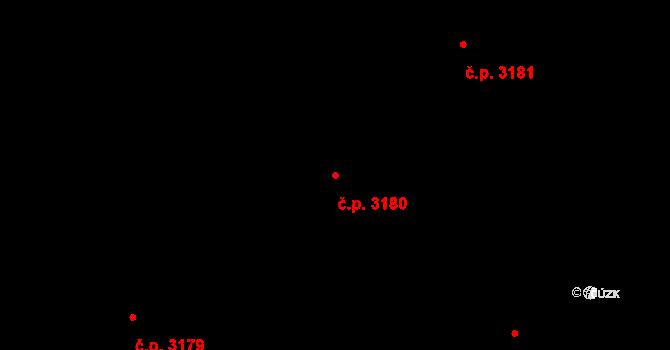 Kladno 3180 na parcele st. 6440/47 v KÚ Kladno, Katastrální mapa
