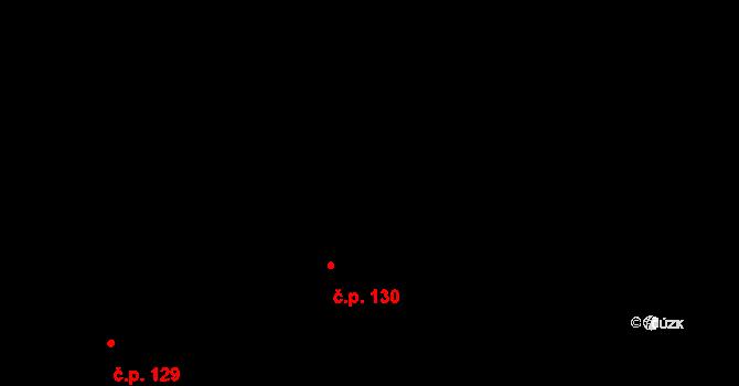 Pohledy 130 na parcele st. 82 v KÚ Pohledy, Katastrální mapa