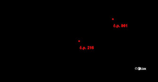 Plačice 216, Hradec Králové na parcele st. 430/3 v KÚ Plačice, Katastrální mapa