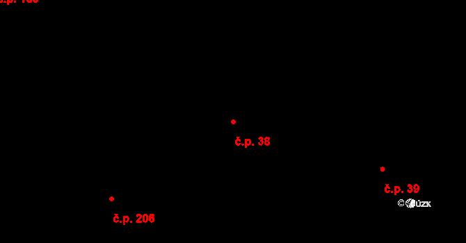 Zálesní Lhota 38, Studenec na parcele st. 338 v KÚ Zálesní Lhota, Katastrální mapa