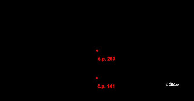Děhylov 253 na parcele st. 271/2 v KÚ Děhylov, Katastrální mapa