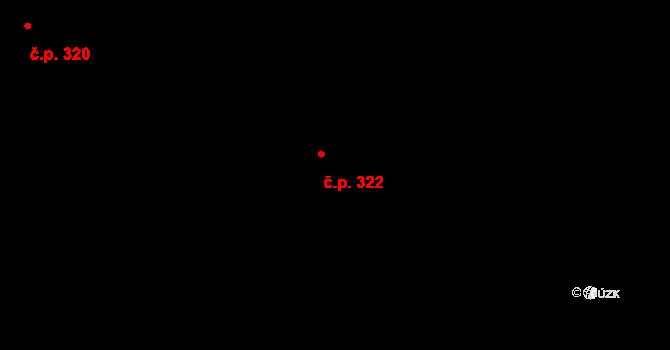 Hradec nad Svitavou 322 na parcele st. 511 v KÚ Hradec nad Svitavou, Katastrální mapa